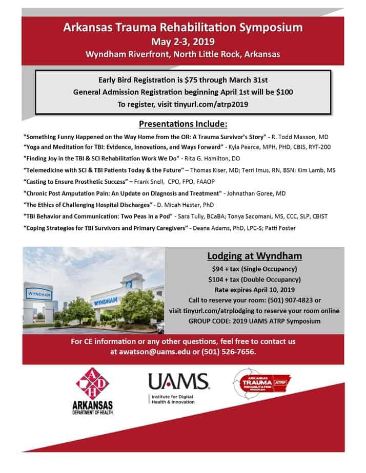 2019 Arkansas Trauma Rehabilitation Symposium - Arkansas